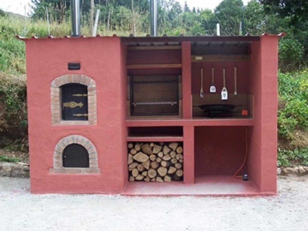horno barbacoa exterior de obra realizado por pio antonio de la pea en becerrea