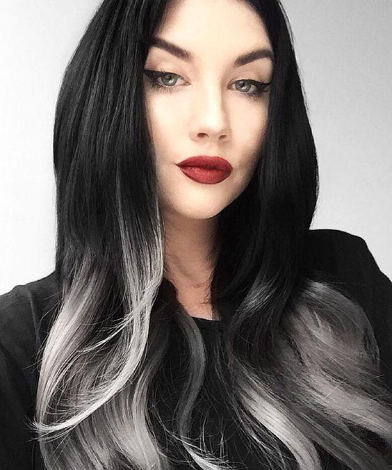 Schwarze Haare Mit Strähnen Dunkle Haare Mit Strähnen 2019 02 07