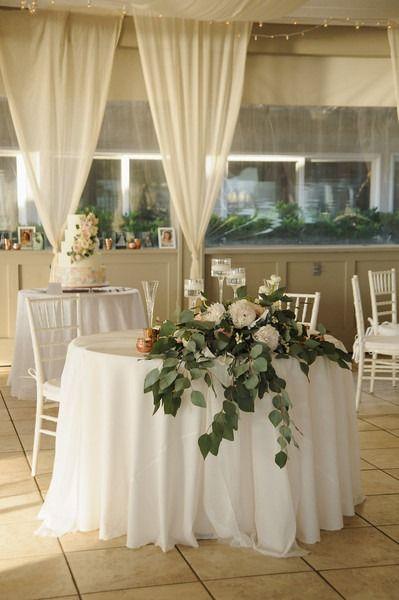 Chic North Carolina Beach Wedding | Banquet tables, Sweetheart ...