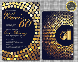 Studio 54 Party Invitations Disco party Studio 54 and Discos