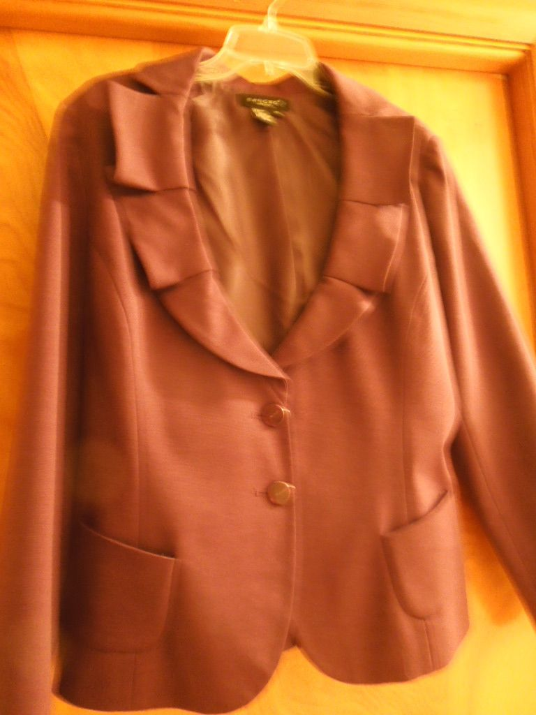 Purple ruffle jacket