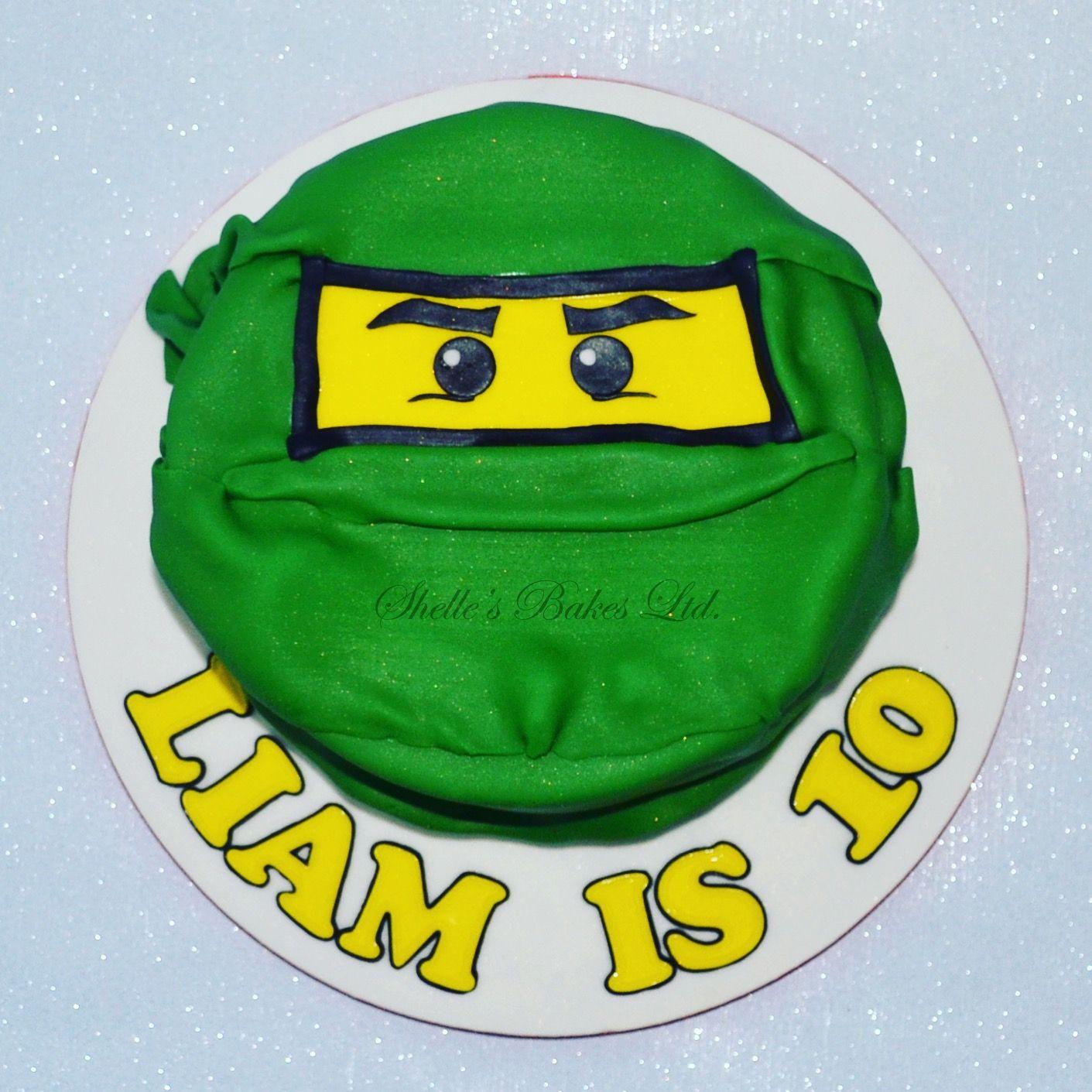 Lego Ninjago Green Ninja Face Cake Cake Cake Toppers