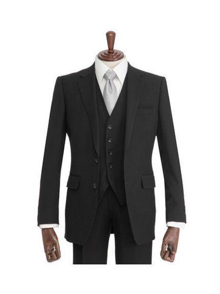 礼服 クラシコモデル 3ピース 2釦 ブラック 1