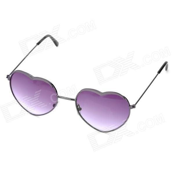 488a84f7eb Gafas de sol de resina en forma de corazon de moda - Negro ...