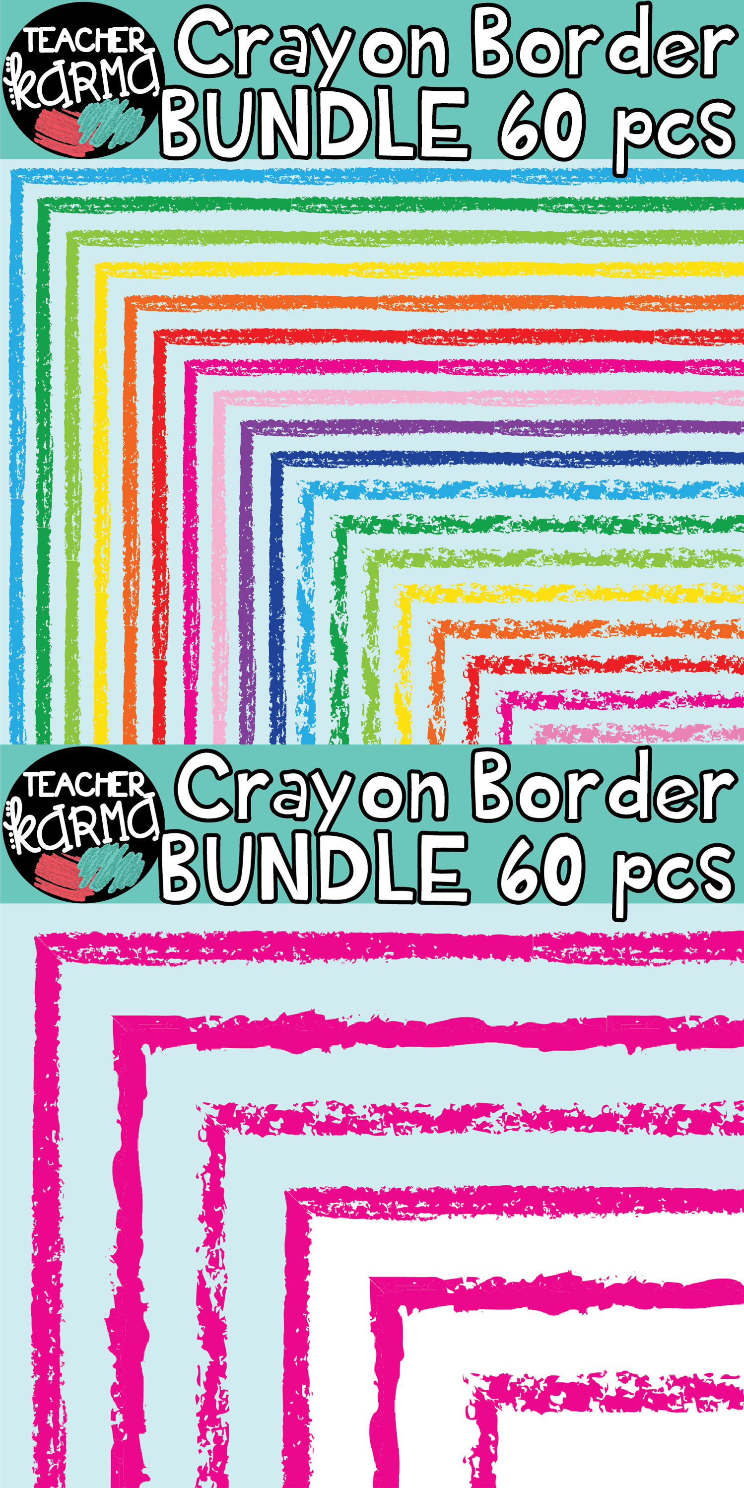 Crayon Border Clipart Bundle Perfect For Classroom Resources And Teachers Pay Teachers Sellers Teachers Pay Teachers Seller Resource Classroom Teacher Clipart