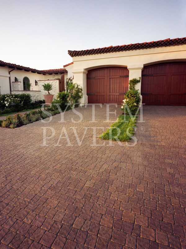 Oyster Shell Concrete With Brick Apron And Borders Front Porch Design Brick Driveway Outdoor Walkway