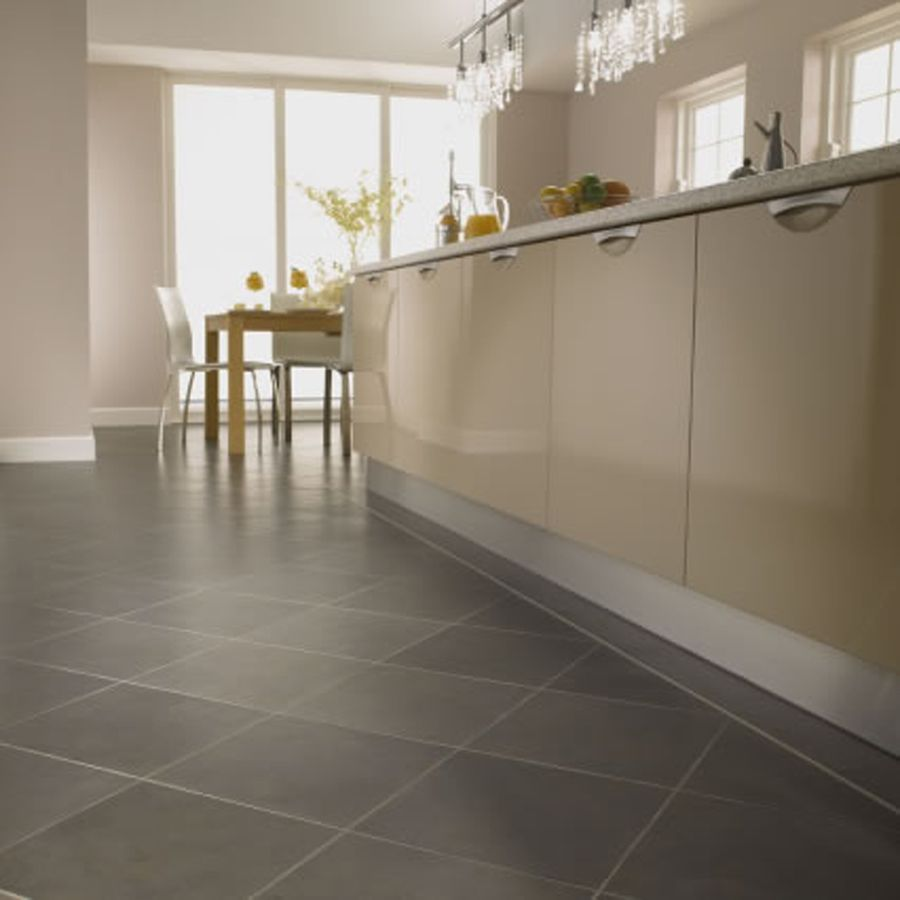 Kitchen Floor Tile Dark Cabinets | ... Kitchen Design With Dark Kitchen  Tile Flooring