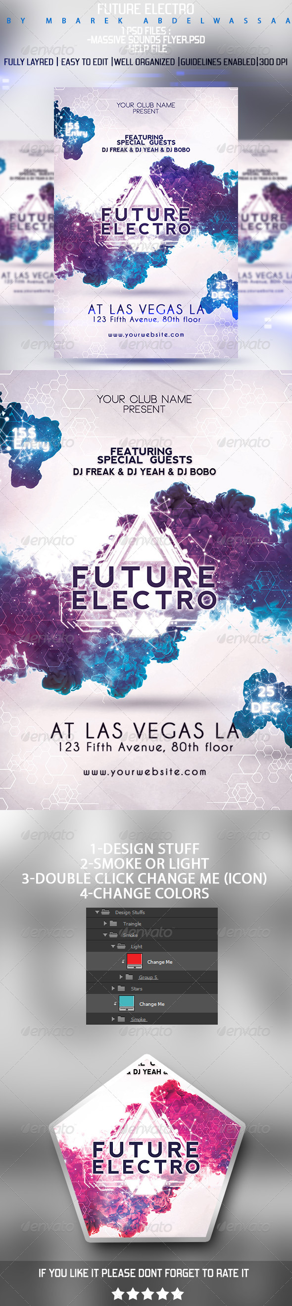 Future Electro Flyer  Electro Music Flyer Template And Future