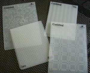 Just a few great embossing folder options for Sweater Card tutorial!
