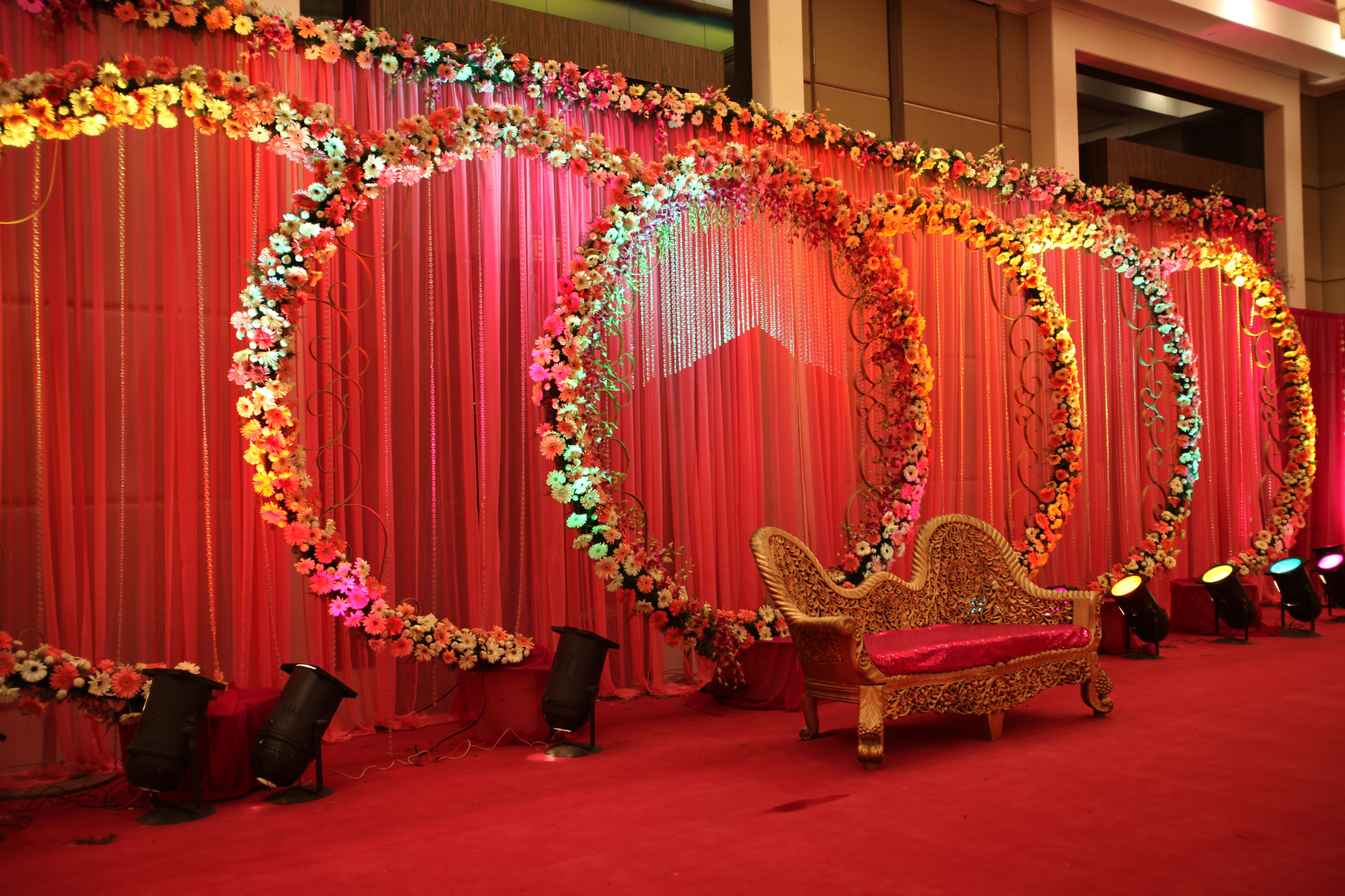 Wedding decorations delhi google search backdrops floral wedding decor idea for your wedding stage junglespirit Image collections
