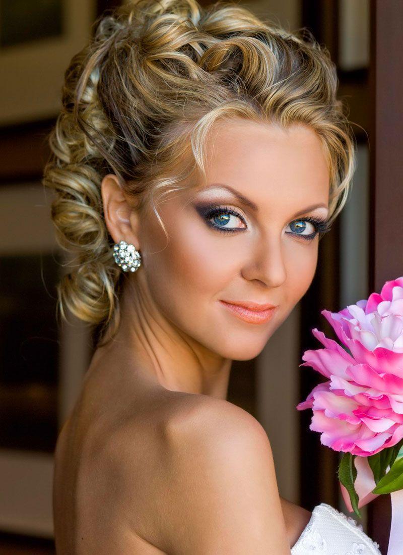 Brautfrisur halb hochgesteckt und ohne Schleier  Schne Hochsteckfrisuren  Brautfrisur