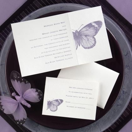 Creative Wording For Wedding Invitations Butterfly