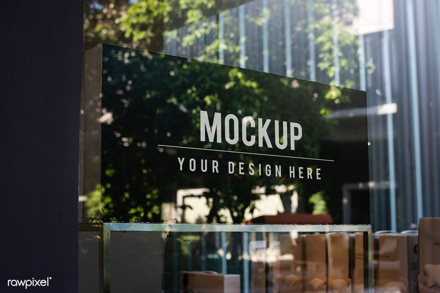 Window Sign Mockup In A Shop Free Image By Rawpixel Com Ake Sign Mockup Window Signs Window Signage