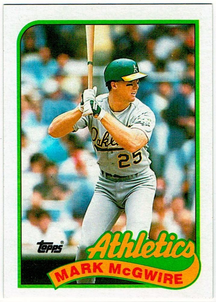 As Cards Legendary 1b Mark Mcgwire 1989 Topps Rookie Card