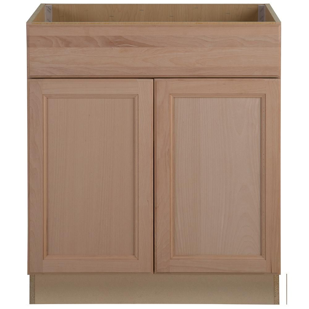 Hampton Bay Assembled 30 In X 34 5 In X 24 63 In Easthaven Sink Base Cabinet With Fals Base Cabinets Kitchen Cabinet Door Styles Unfinished Kitchen Cabinets