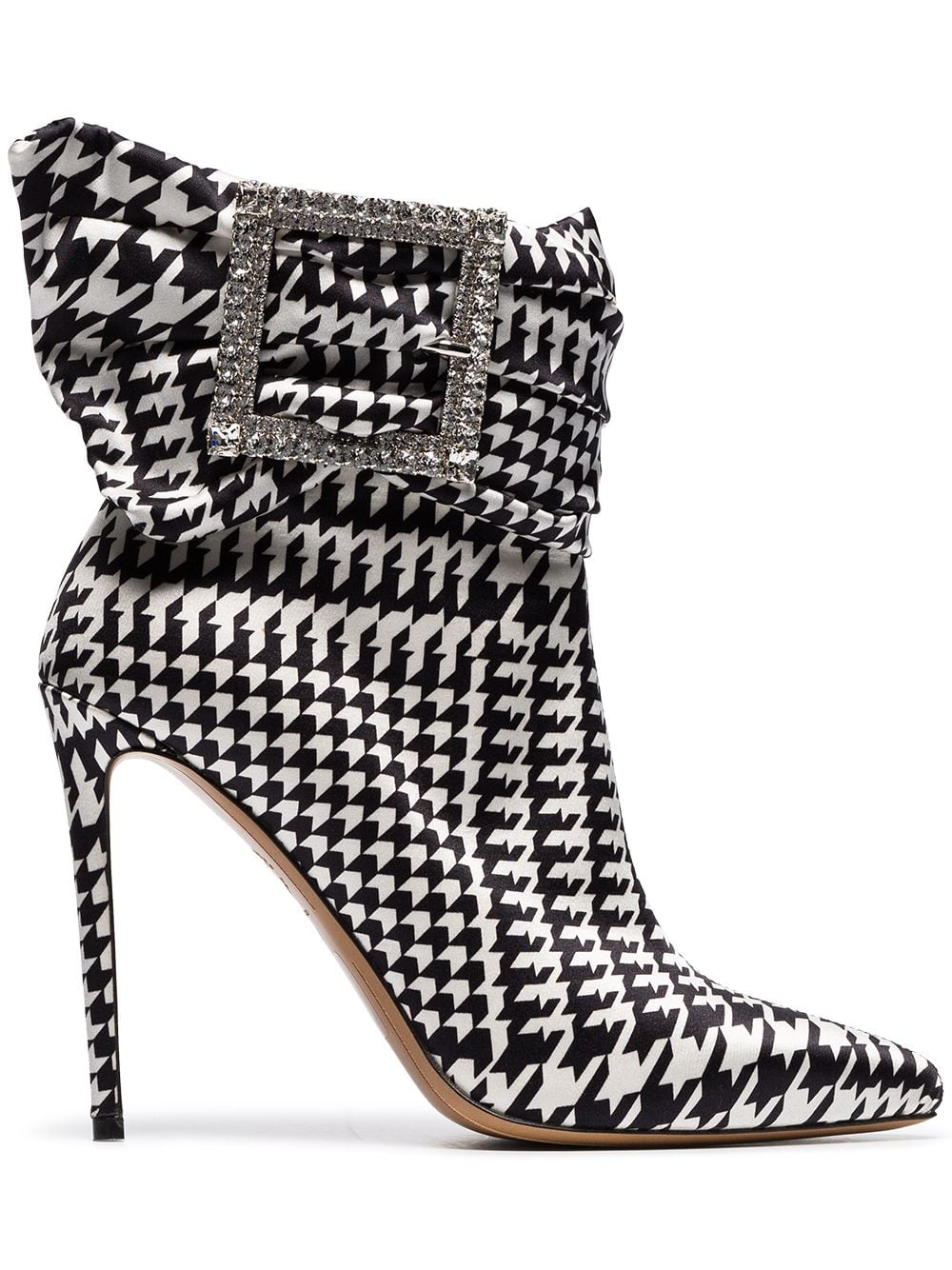 ecffe711778 Alexandre Vauthier black and white Yasmin 100 houndstooth print ...