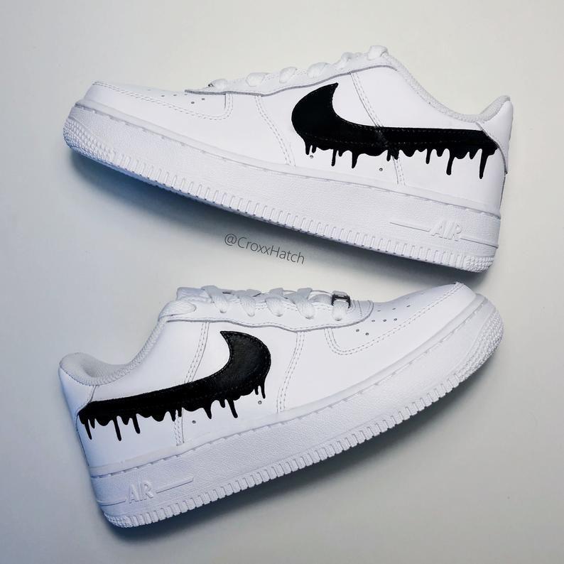 Dripping Paint Air Force 1 Custom Sneakers Zapatos 2020 Nike Ayakkabilar Sneaker Nike Air
