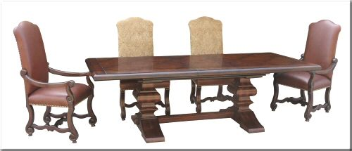 Castlegate Trestle Dining Table 82 Wide X 44 Deep X 30 Tall