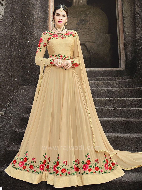 Chiffon semi stitched kameez with dupatta indian fashion