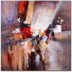 This ready to hang, gallery-wrapped art piece features an abstract composition of colors. Masters Fine Art is a company that travels around the world to bring the best in fine art from outstanding art
