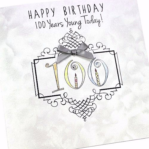 Handmade 100th birthday card silver pearl ivory twist board swirly handmade 100th birthday card silver pearl ivory twist board swirly happy birthday bookmarktalkfo Images