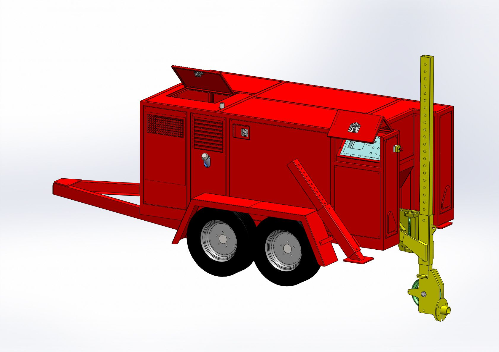 The winch has been designed to carry approx 900 Metres of 16 mm Diameter IWRC wire rope; this offers a breaking load of 16.50 Tonnes. If longer lengths are required, the winch can be fitted with approx 1000 Mtrs of 14 mm Diameter IWRC wire rope this offers a lower breaking load of 12.60 Tonnes. Trenchless Technology