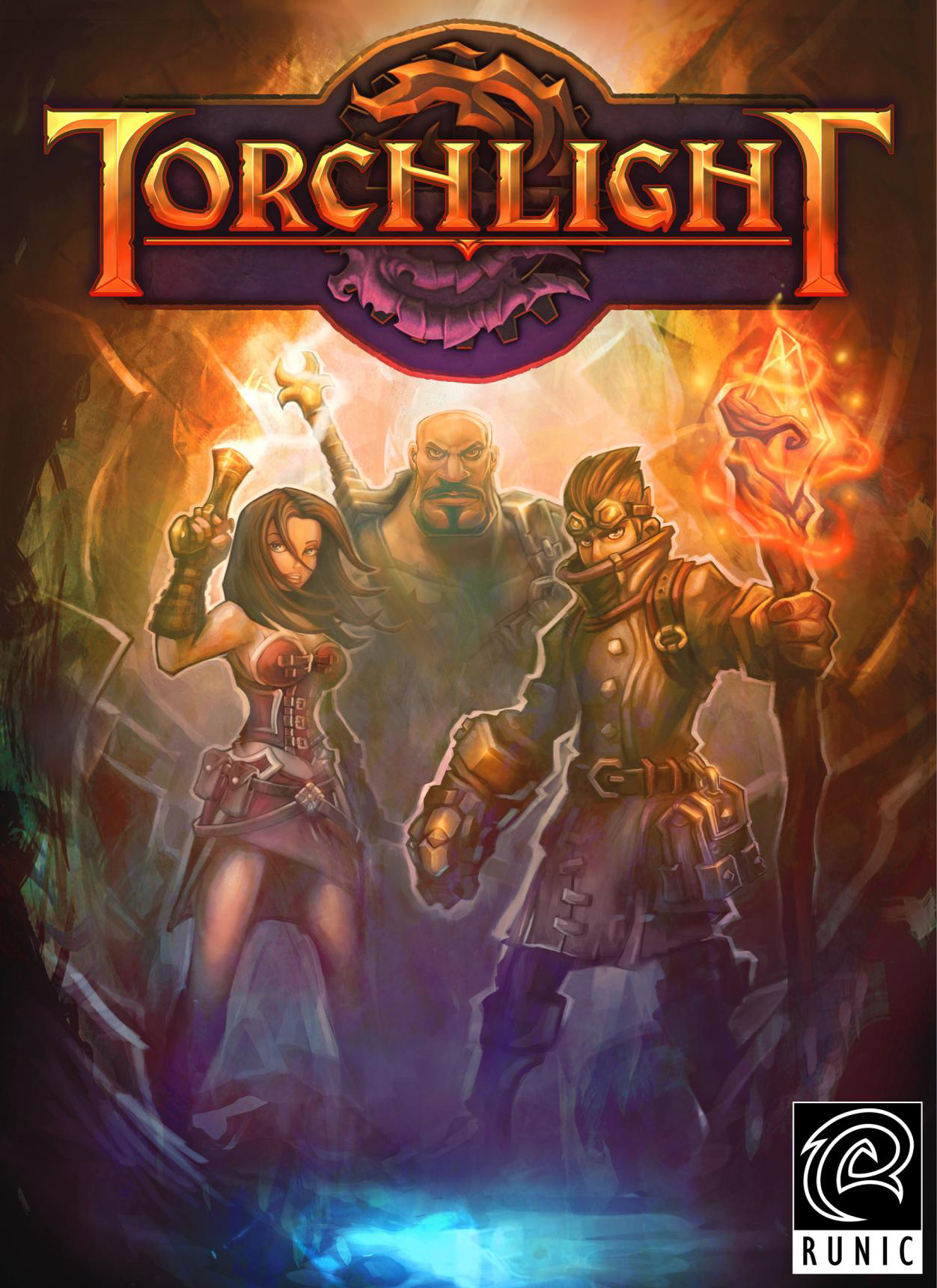 "Poster from the ComicDesigned ActionRPG, ""Torchlight"
