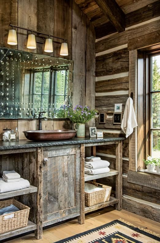 A Montana Cabin Is A Wilderness Wonderland Cabin Living Bano
