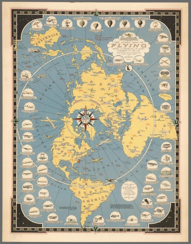 The story map of flying flat earth fine art print map maps the story map of flying flat earth fine art print map gumiabroncs Gallery