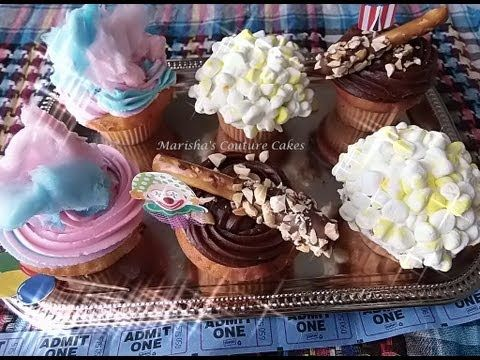 D.I.Y | Carnival Cupcakes (Popcorn, Cotton Candy