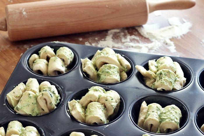 Kräuterfaltenbrot Muffins - klein und lecker - Fashion Kitchen