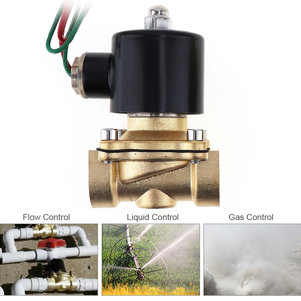 3 4 Ac 110v 220v Electric Solenoid Valve Brass Pneumatic Valve For Water Oil Gas Electricity Gas Oils