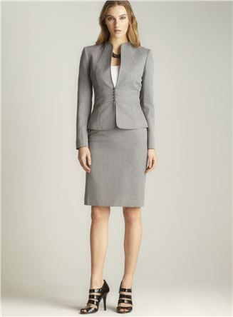 be626abc82a Collarless Skirt Suit - great for orientation training