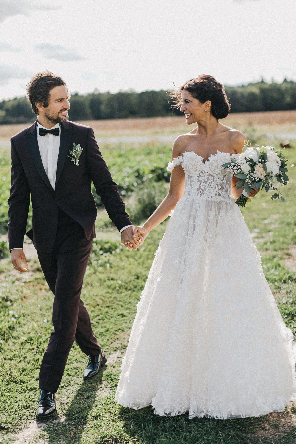 Tom Beck und Chryssanthi Kavazi Hochzeitsfoto #hochzeitskleid ...