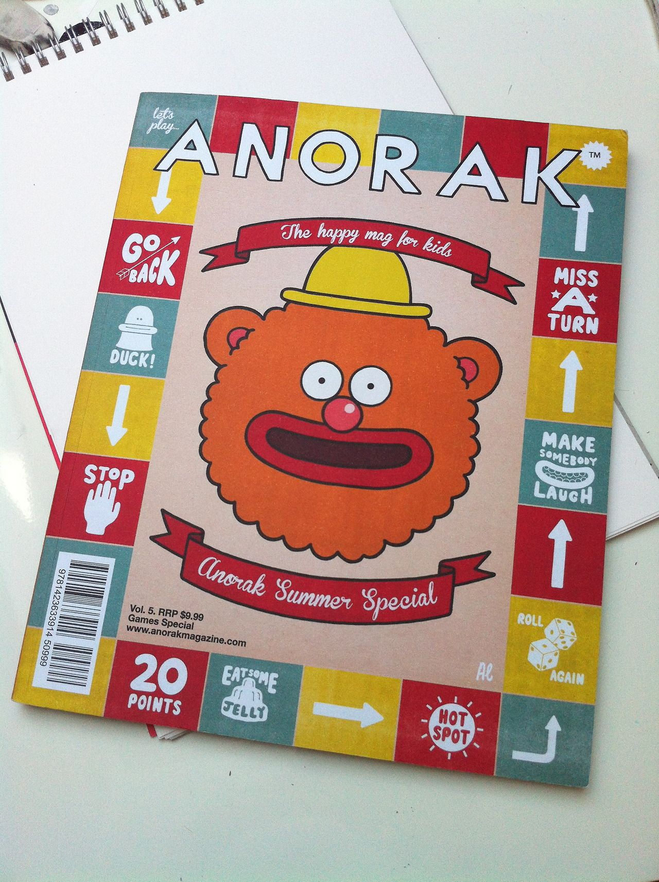 My copy of the Anorak Summer Special came a few days ago and it is SO FUN. The cover was done by the brilliant Al Murphy and it is rammed wi...