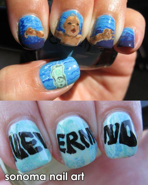 Nirvana Nevermind nails - SO RAD!!