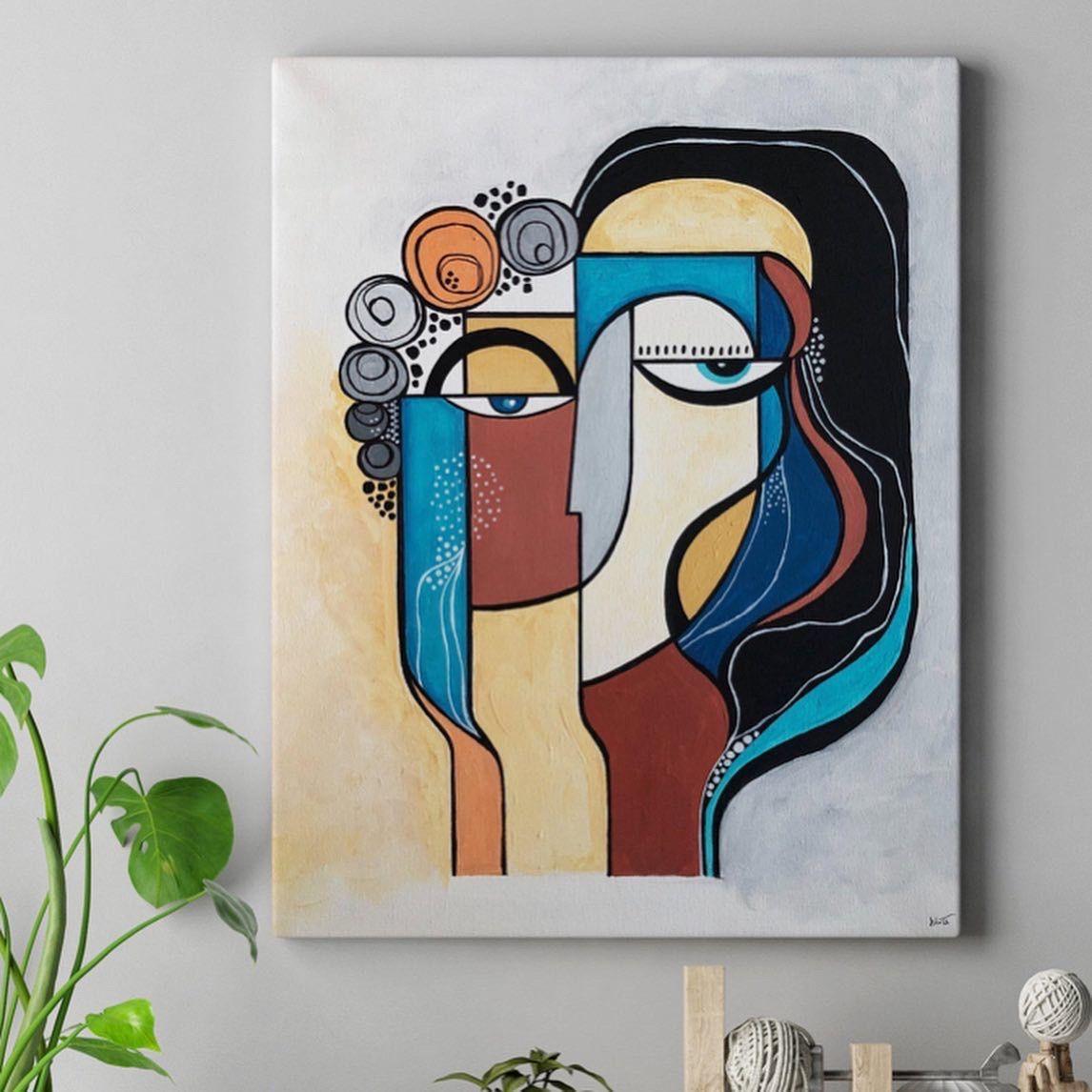Niraan original abstract art, acrylic on canvas painting in 20 ...