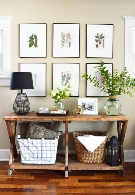 The Trials And Errors Of Our Entry Hallway Table Decor Decor