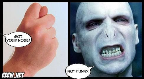 Ive Got Your Nose Voldemort Funny Celebrity Pics Funny Pictures Harry Potter Funny Pictures