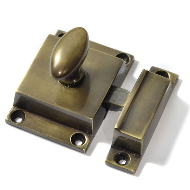 Antique Brass Cabinet Latch | Antique brass, Iron and Doors