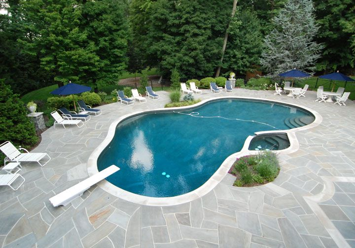 Landscaping Ideas For Inground Swimming Pools pools nice backyard design ideas with beautiful small inground with photo of contemporary swimming pool backyard Find This Pin And More On Inground Pool Ideas