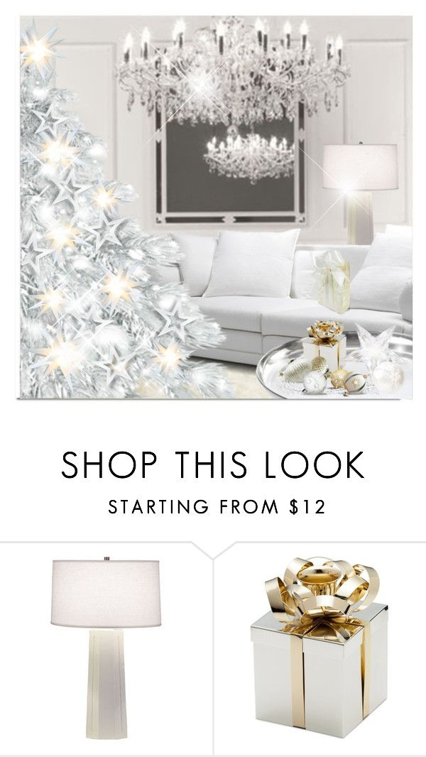 """White Christmas"" by passion-fashion-2 ❤ liked on Polyvore featuring interior, interiors, interior design, hogar, home decor, interior decorating y Robert Abbey"