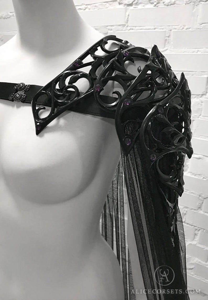 Dark Fairytale Shoulder Armor Cape Gothic Baroque Elven | Etsy