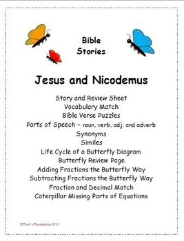 This Set Centers Around The Story In Bible When Jesus Talked With Nicodemus About Being