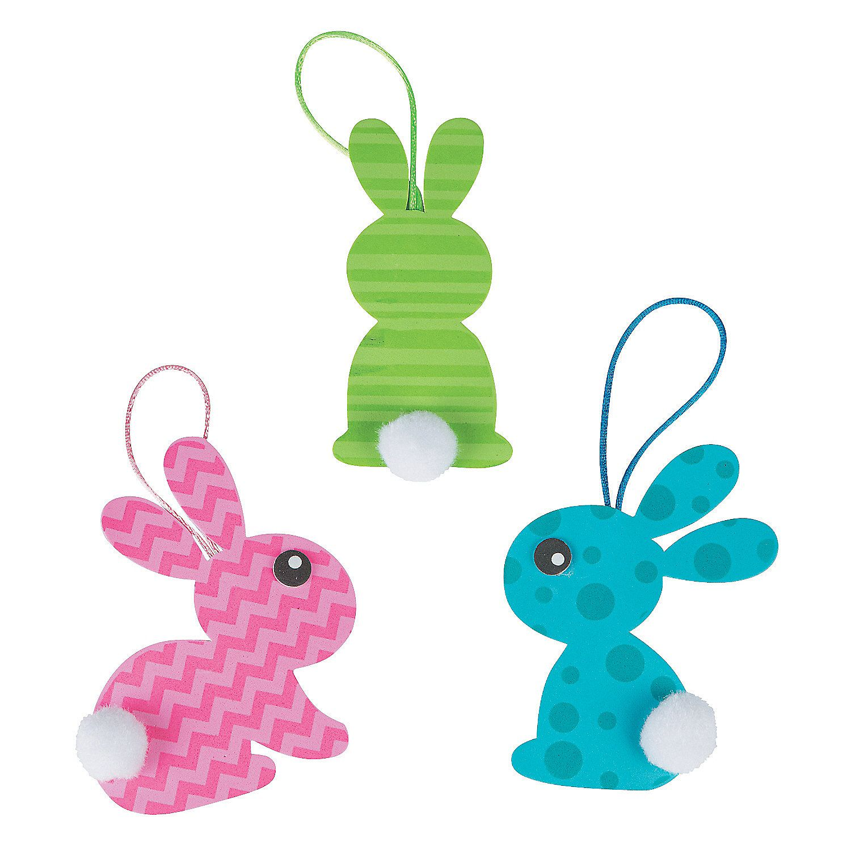 Pom-Pom Bunny Tail Ornament Craft Kit   Craft kits, Bunny and Ornament