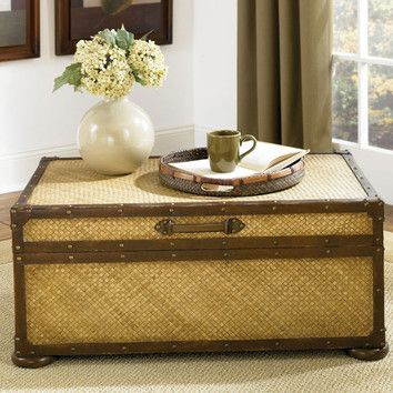 Hammary Hidden Treasures Trunk Coffee Table With Lift Top $420
