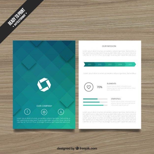 Geometric brochure Free Vector Free Trifold Pinterest Brochures - free pamphlet design
