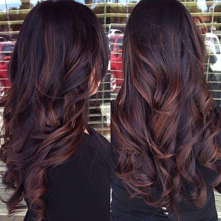 Image Result For Dark Brown Auburn Balayage Cores De Cabelo Cabelo Hair Hair