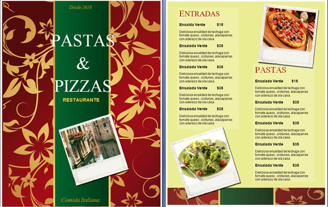pindavid becerra on cartas de menú  menu postres