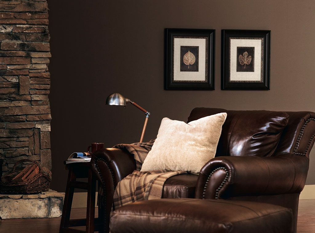 Richly brown firewood b14 1 cozy and luscious dark - What you need to paint a room ...